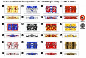 BFL2001  Feudal: Scottish Wars of Independence – End of the 13th Century – Scottish Sheet 1